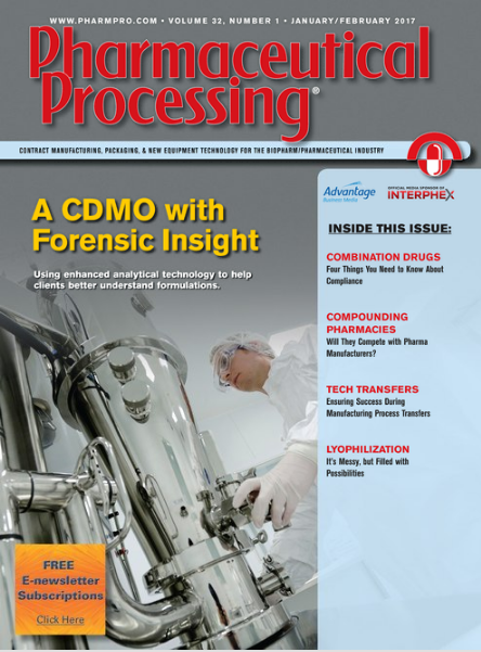 Pharmaceutical Processing Combination Drug Story